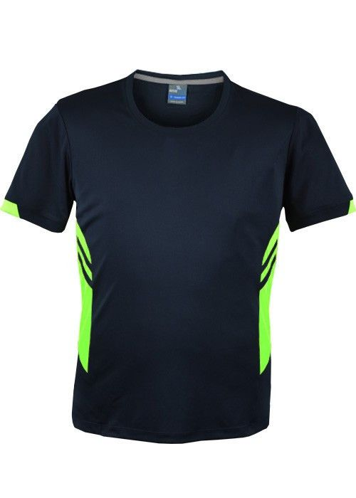 Aussie Pacific-Aussie Pacific Mens Tasman Tee-navy/Neon Green / S-Uniform Wholesalers - 8