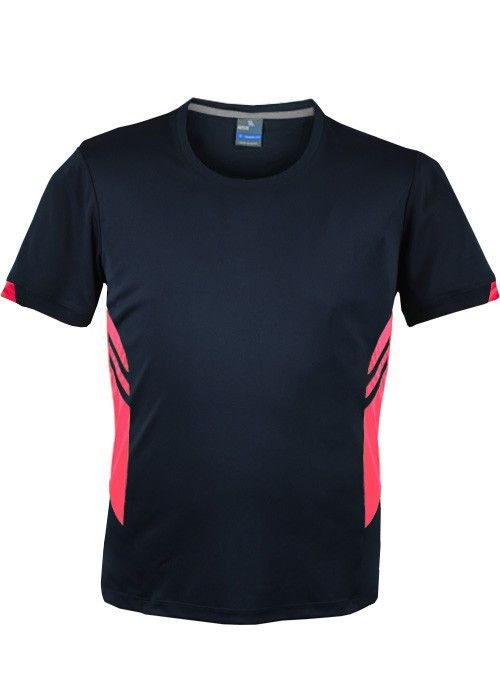 Aussie Pacific-Aussie Pacific Mens Tasman Tee-Navy/Neon Pink / S-Uniform Wholesalers - 9
