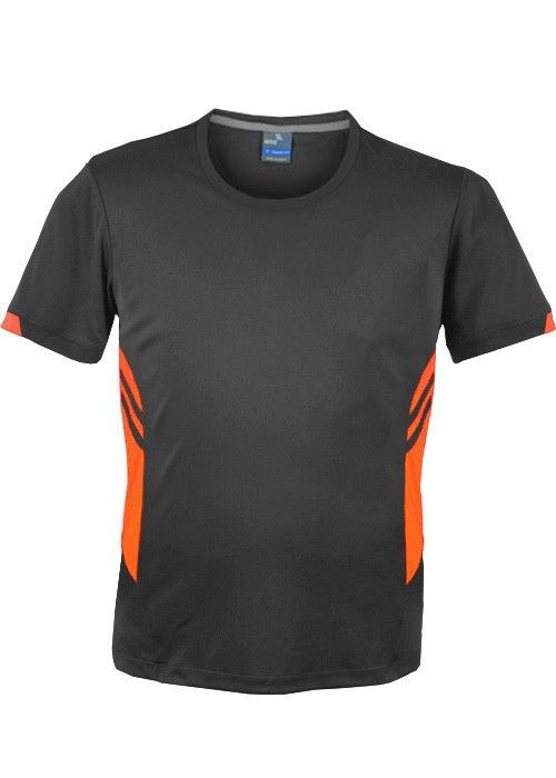 Aussie Pacific-Aussie Pacific Mens Tasman Tee(2nd 4 colors)-S / Slate/Neon Orange-Uniform Wholesalers - 5