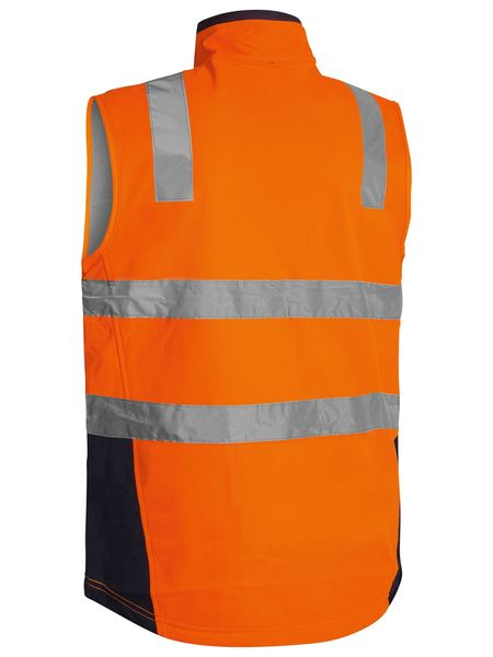 Bisley Taped Hi Vis Soft Shell Vest-(BV0348T)