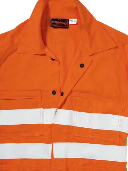 Bisley  Indura® Ultra Soft® Fire Retardant Coverall 3m Fr Reflective Tape-(BC8001)