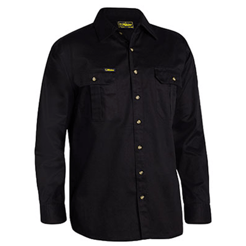 Bisley Original Cotton Drill Shirt - Long Sleeve-(BS6433)