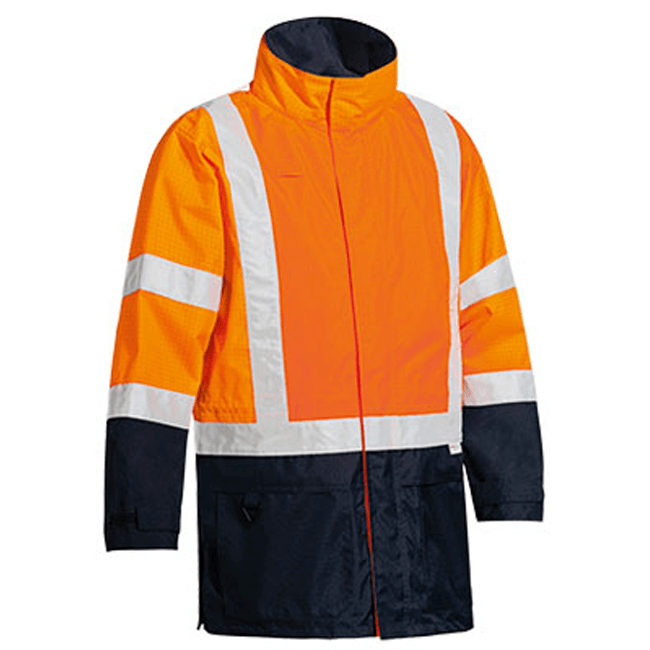 Bisley 3M Taped Two Tone Hi Vis Anti Static Wet Weather Jacket-(BJ6963T)