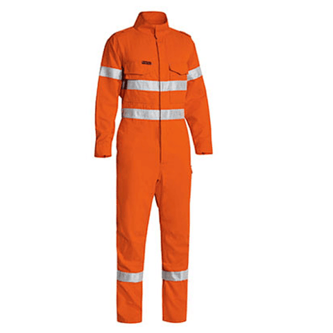Bisley Tencate Tecasafe Taped Hi Vis FR Lightweight Engineered Coverall-(BC8185T)