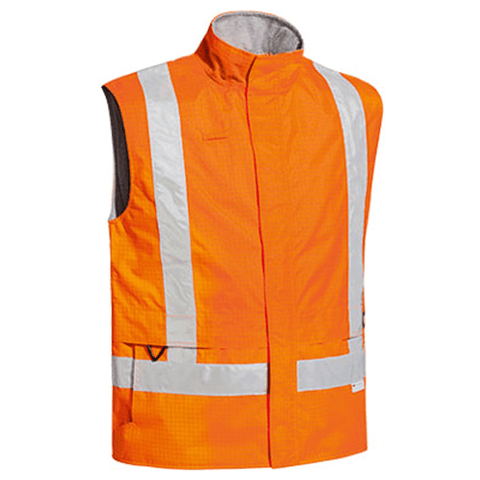 Bisley 3M Taped Hi Vis Wet Weather Anii Static Vest-(BV0363T)