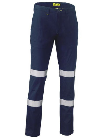 Bisley Taped Biomotion Stretch Cotton Drill Work Pants (BP6008T)