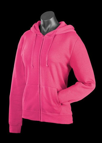 Aussie Pacific-Aussie Pacific Cronulla Zip Ladies Hoodies-Hot Pink / 8-Uniform Wholesalers - 1