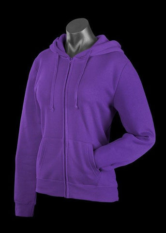 Aussie Pacific-Aussie Pacific Cronulla Zip Ladies Hoodies-Purple / 8-Uniform Wholesalers - 2