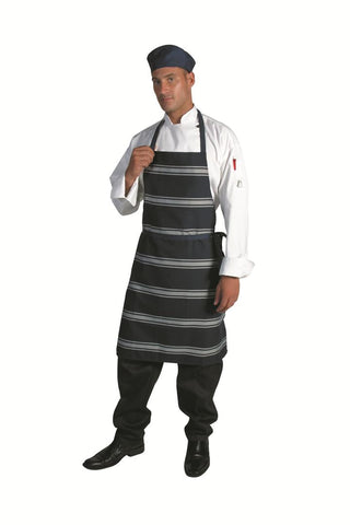 DNC Blue & White Stripe Full Bib Apron (2532)