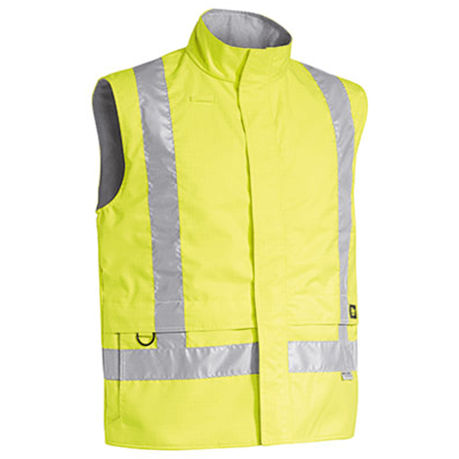 Bisley 3M Taped Hi Vis Wet Weather Anii Static Vest (BV0363T)