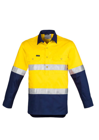 Syzmik Mens Hi Vis Taped Closed Front Shirt (ZW550)