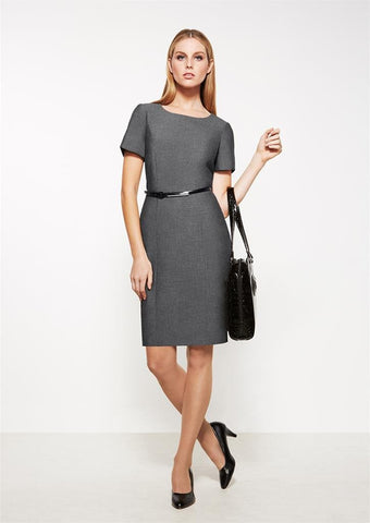 Biz Corporates-Biz Corporates Ladies Short Sleeve Shift Dress--Corporate Apparel Online - 1