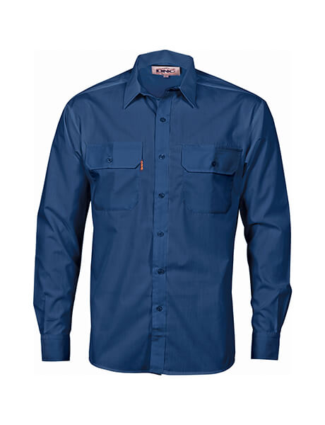 DNC Polyester Cotton L/S Work Shirt (3212)