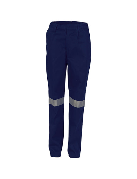 DNC Ladies Cotton Drill Pants with 3M R/Tape (3328)
