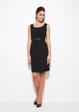 Biz Corporates-Biz Corporates Sleeveless Side Zip Dress--Corporate Apparel Online - 1