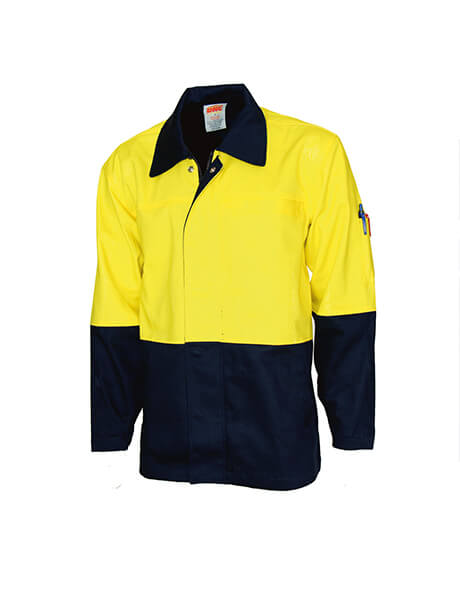 DNC Patron Saint Flame Retardant Two Tone Drill Welder's Jacket (3431)