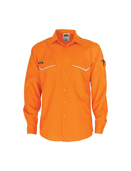 DNC HiVis RipStop Cotton Cool Shirt, L/S (3584)