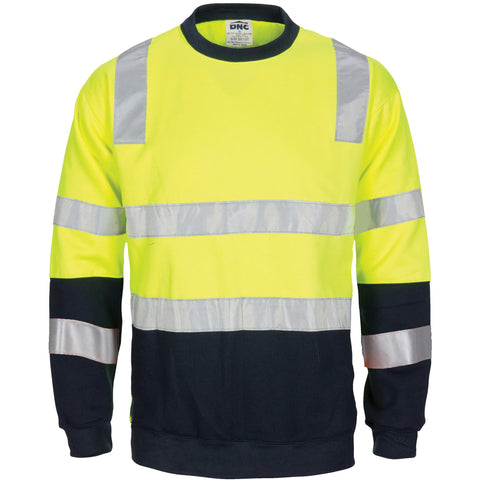 DNC Hi vis 2 Tone, Crew-neck Fleecy Sweat Shirt (3723)