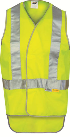 DNC Day & Night Cross Back Safety Vest with Tail (3802)