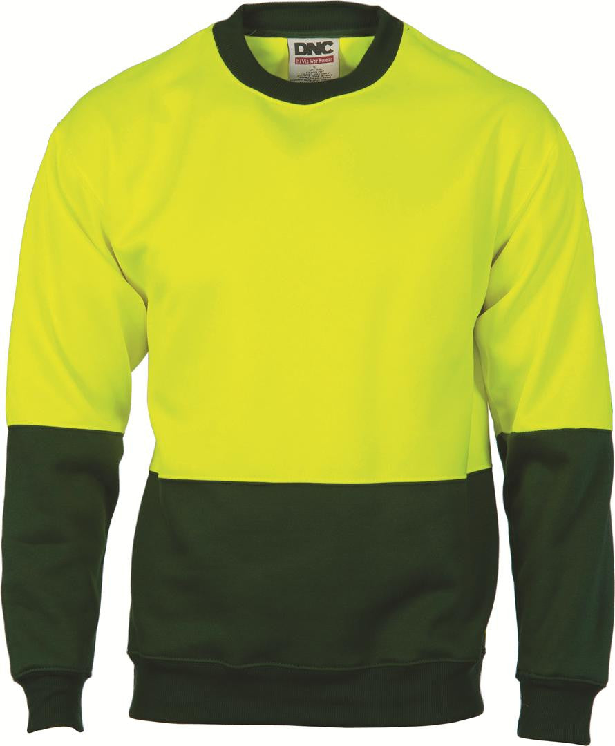 DNC HiVis Two tone Fleecy Sweat Shirt, Crew Neck (3821)