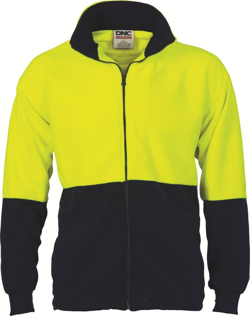 DNC HiVis Two Tone Full Zip Polar Fleece (3827)