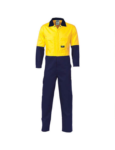DNC HiVis Cool-Breeze 2-Tone L.Weight Cotton Coverall (3852)