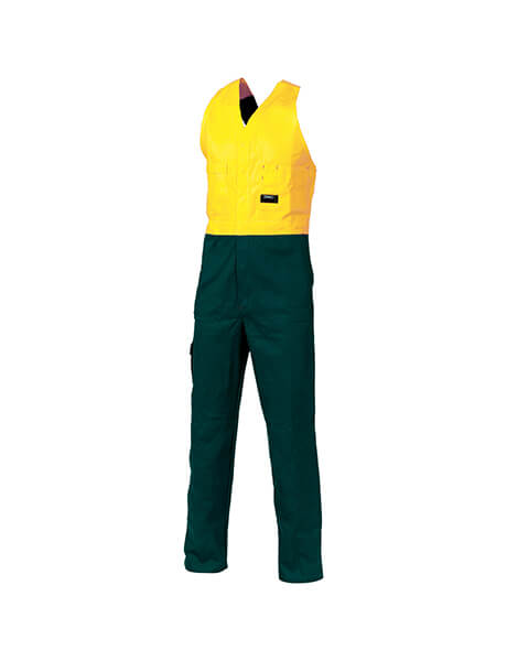 DNC HiVis Two Tone Cotton Action Back Overall (3853)