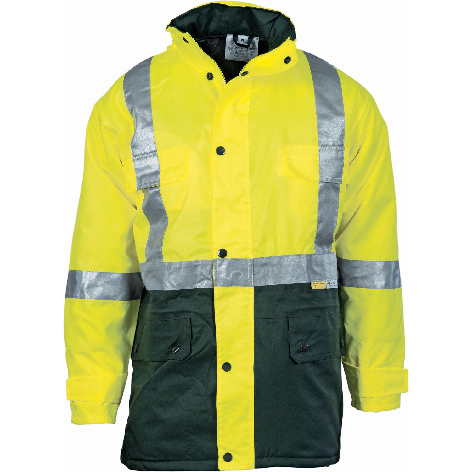 DNC HiVis Two Tone Quilted Jacket with 3M R/Tape (3863)
