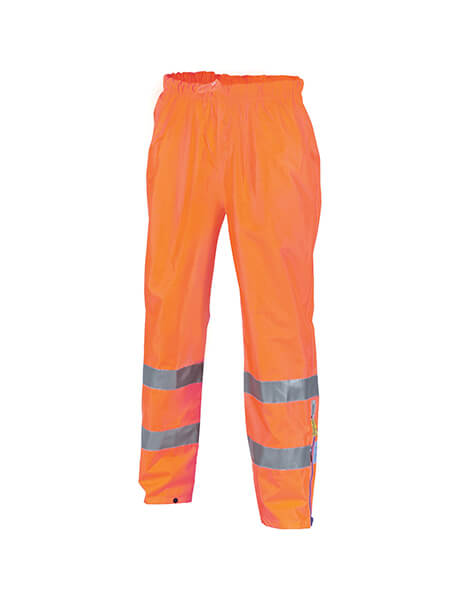 DNC HiVis D/N Breathable Rain Pants with 3M R/Tape (3872)