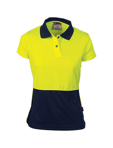 DNC Ladies HiVis Two Tone S/S Polo (3897)