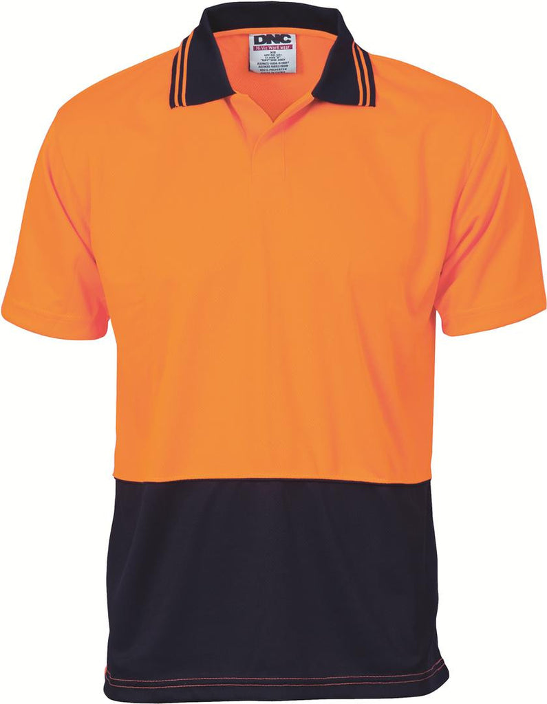 DNC HiVis Two Tone Food Industry Polo - Short Sleeve (3903)