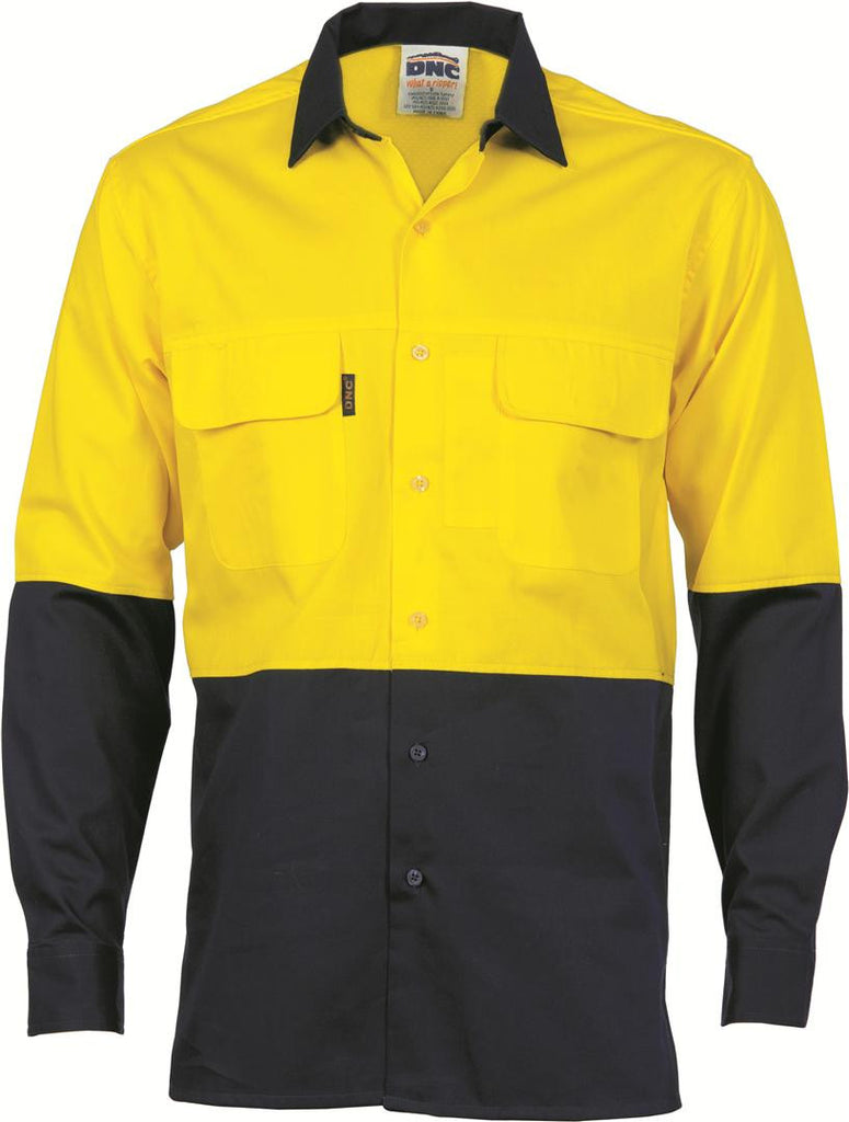 DNC HiVis 3 Way Cool-Breeze L/S Cotton Shirt (3938)