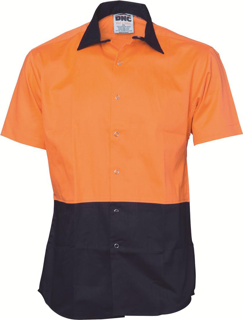 DNC Hivis Cool Breeze Food Industry Cotton Shirt - Short Sleeve (3941)