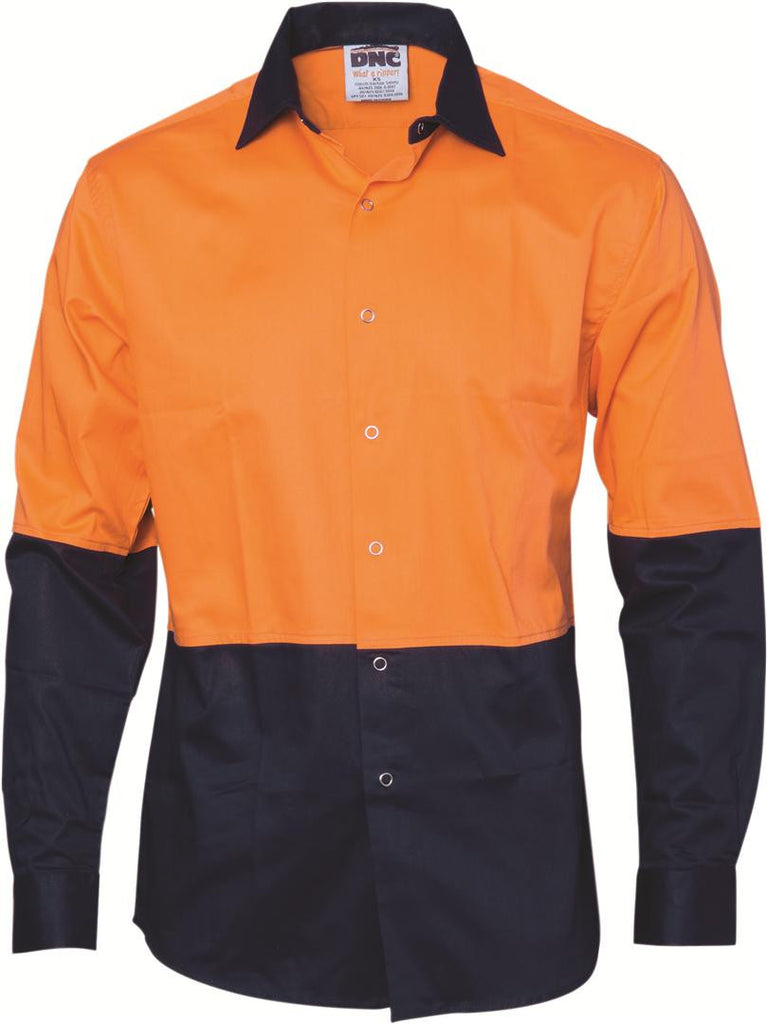 DNC HiVis Food Industry Cool-Breeze Cotton Shirt - Long Sleeve (3942)