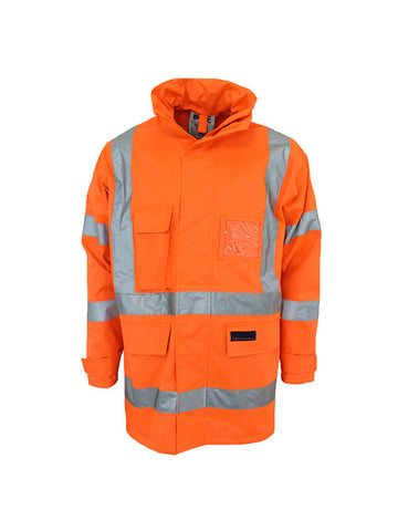 "Dnc HiVis ""X"" back Rain jacket Biomotion tape (3996)"