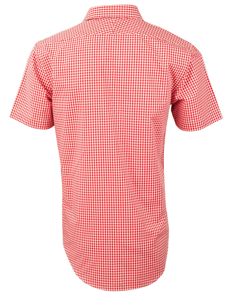 Winning Spirit  Men's Gingham Check Short Sleeve Shirt (M7330S)