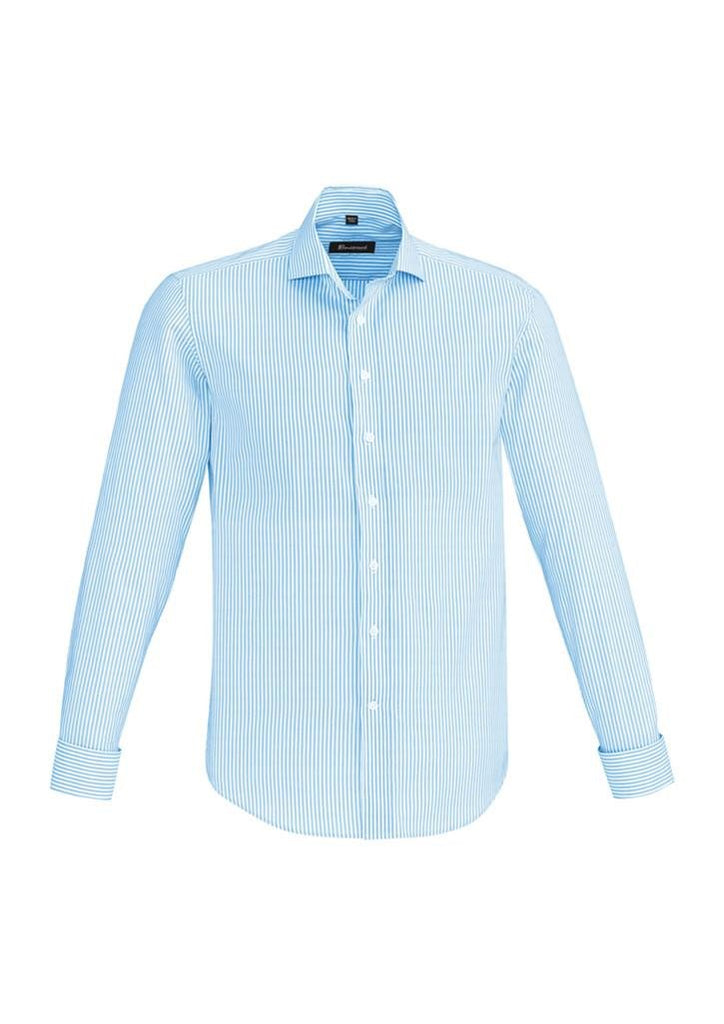 Biz Corporates-Biz Corporate Vermont Mens Long Sleeve Shirt-Alaskan Blue / XS-Corporate Apparel Online - 2