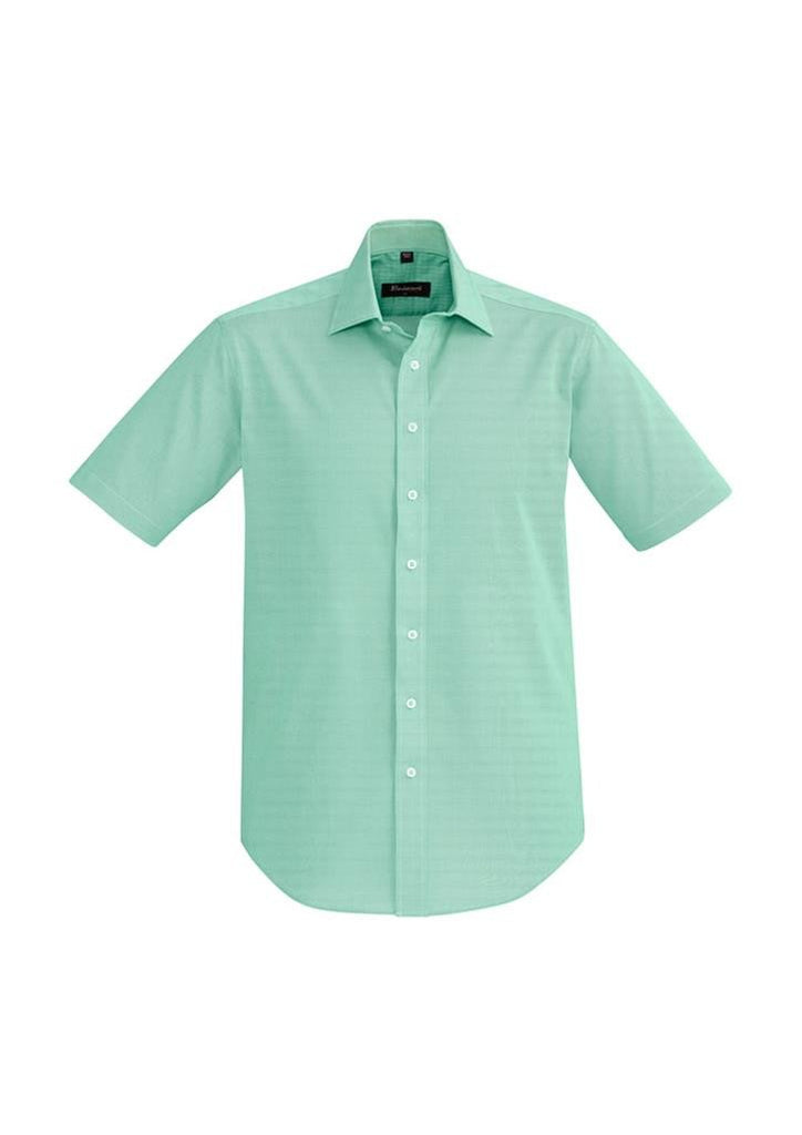 Biz Corporates-Biz Corporate Hudson Mens Short Sleeve Shirt-Dynasty Green / XS-Corporate Apparel Online - 2