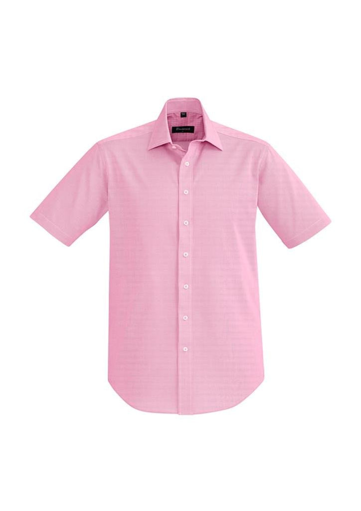 Biz Corporates-Biz Corporate Hudson Mens Short Sleeve Shirt-Melon / XS-Corporate Apparel Online - 5