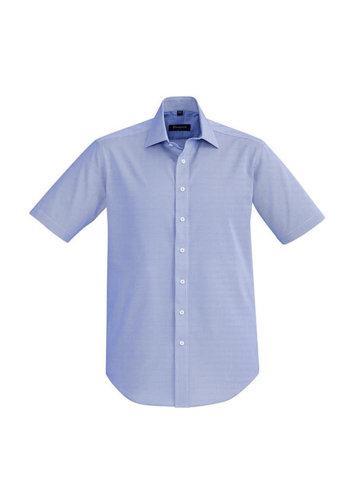 Biz Corporates-Biz Corporate Hudson Mens Short Sleeve Shirt-Patriot Blue / XS-Corporate Apparel Online - 7