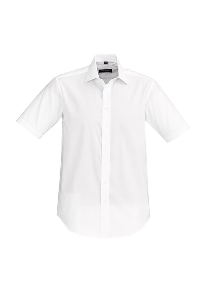 Biz Corporates-Biz Corporate Hudson Mens Short Sleeve Shirt-White / XS-Corporate Apparel Online - 9