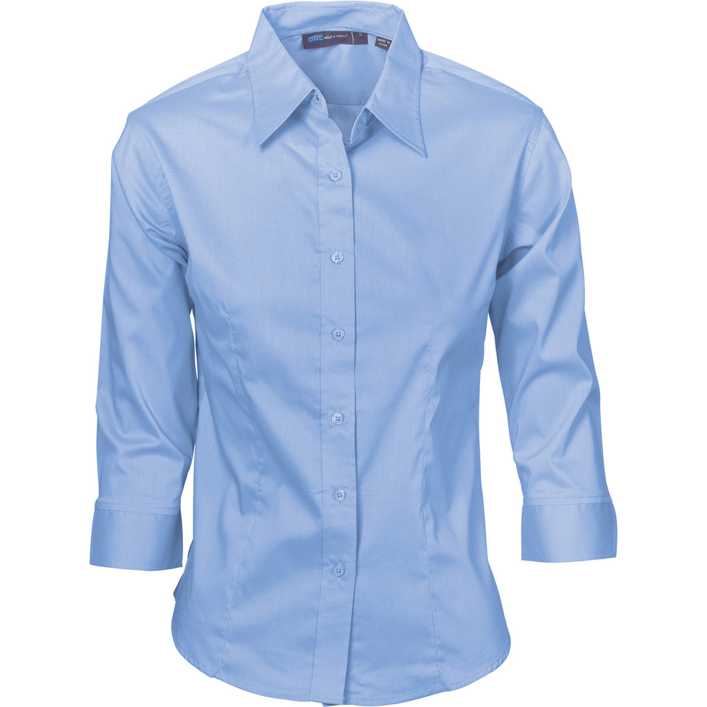 DNC Ladies Premier Stretch Poplin 3/4 Sleeve Business Shirts (4232)