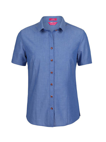 Jb's  Ladies Classic S/S Fine Chambray Shirt (4FC1S)