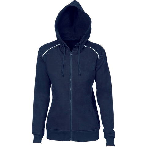 DNC Ladies Contast Piping Fleecy Hoodie (5426)