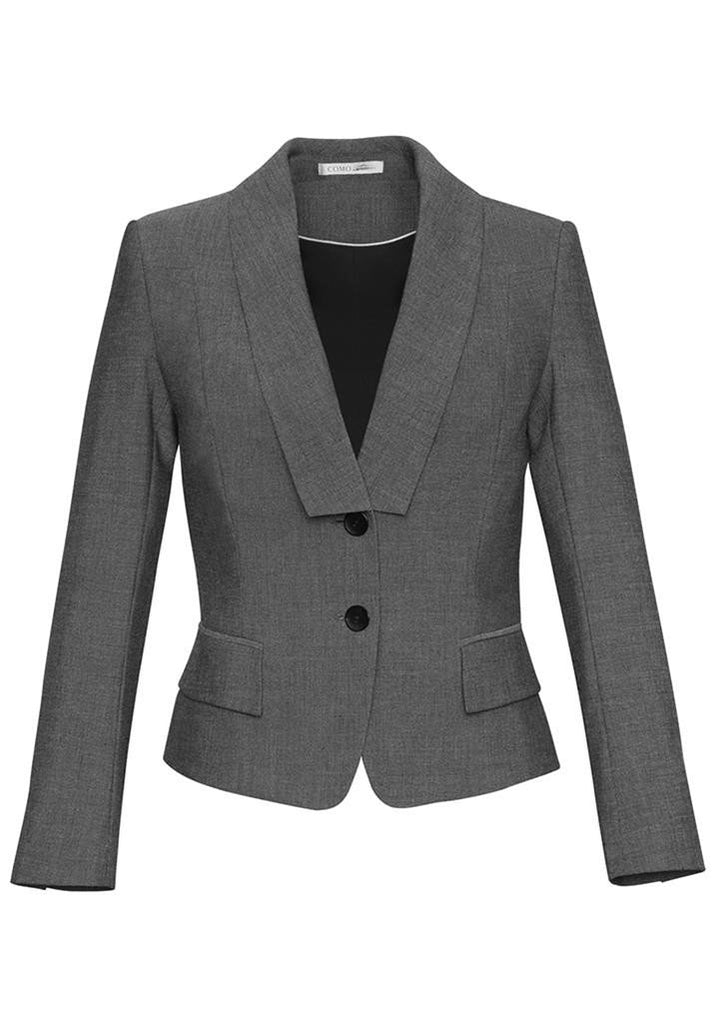 Biz Corporates-Biz Corporates Ladies Cropped Suit Jacket-Grey / 4-Corporate Apparel Online - 2