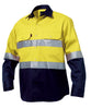 King Gee L/S Hi-vis Open Front Spliced Reflect Shirt with Hi Vis Tape (K54315)