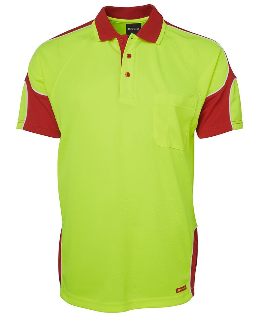 JB's Hi Vis S/S Arm Panel Polo - Adults (6AP4S)