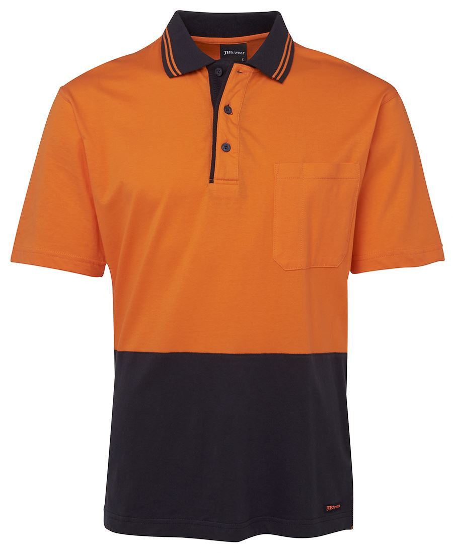 Jb's Hi Vis Short Sleeve Cotton Polo - Adults (6CPHV)