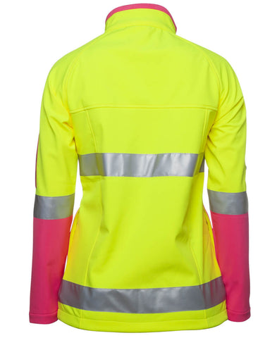 Jb's Ladies Hi Vis (D+N) Softshell Jacket with 3M Tape (6D4J1)
