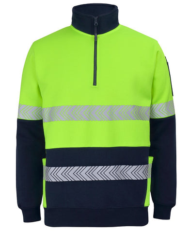 JB Hi Vis 330G 1/2 Zip Segmented Tape Fleece (6DPS)